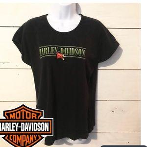 Harley Davidson Rose T-shirt Daytona Beach 2X